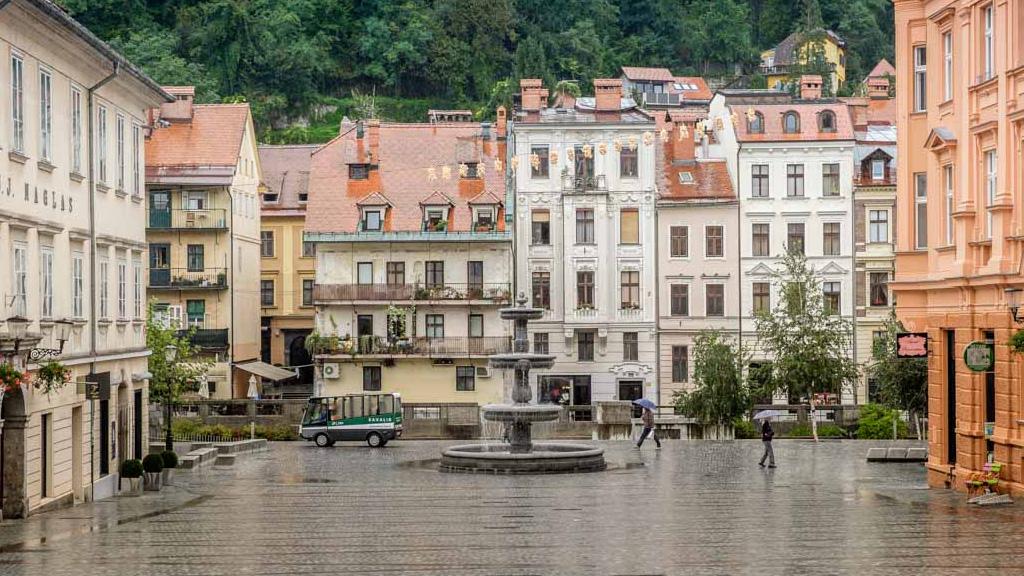 Rainy Ljubljana, Slovenia