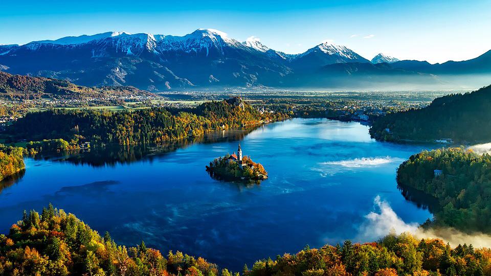 Bled in Atumn, Slovenia