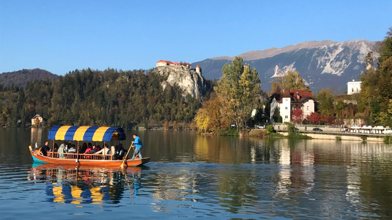 Pletna Boat Bled Lake Slovenia